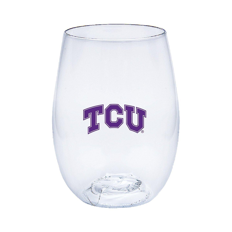 Neil Varsity TCU Horned Frogs Govino Shatterproof Wine or Beverage Glass
