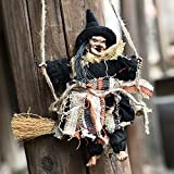 Vintage Wooden Halloween Hanging Props Welcome Sign Animated Witch Wall Door Hanger Halloween Decorations Haunted House Prop Decor Yard Outdoor Indoor Bar Club KTV Ornament Decoration Toys Gift