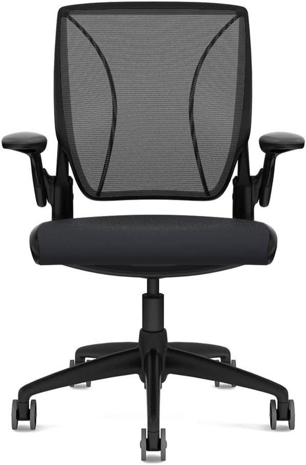 Humanscale Diffrient World Office Chair - Black Back, Wave Graphite Seat