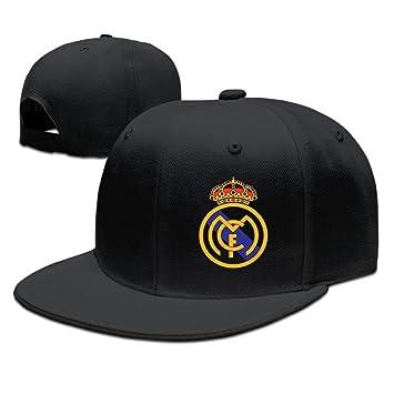 Runy Personalizado Real Madrid Club de F š² tbol Logo Sombrero y Gorra de béisbol Ajustable, Negro: Amazon.es: Deportes y aire libre