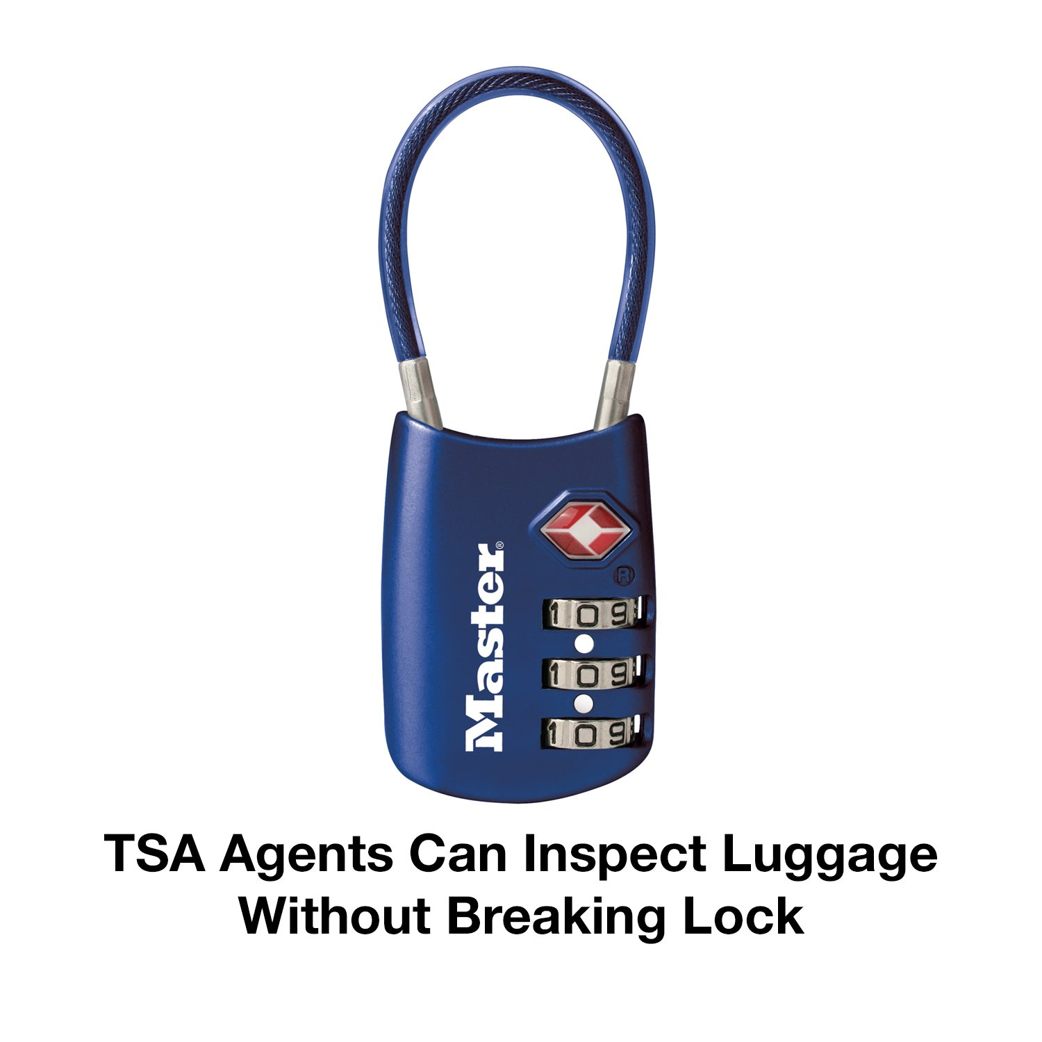 Master Lock Padlock Set Your Own Combination Tsa Accepted Cable