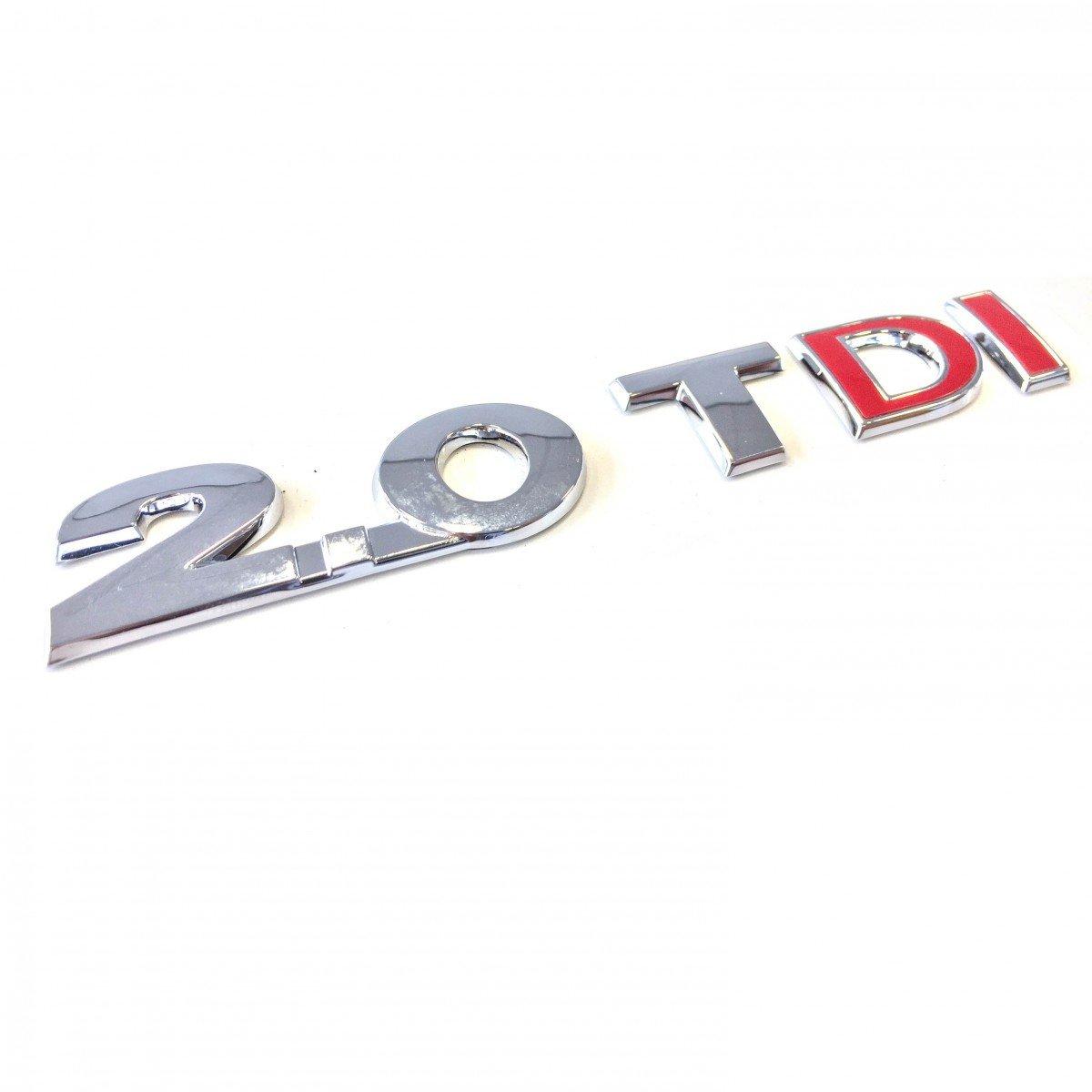 2.0 TDI Schriftzug rote Buchstaben Heck Selbstklebend Volkswagen Original VW Tiguan Touran uvm