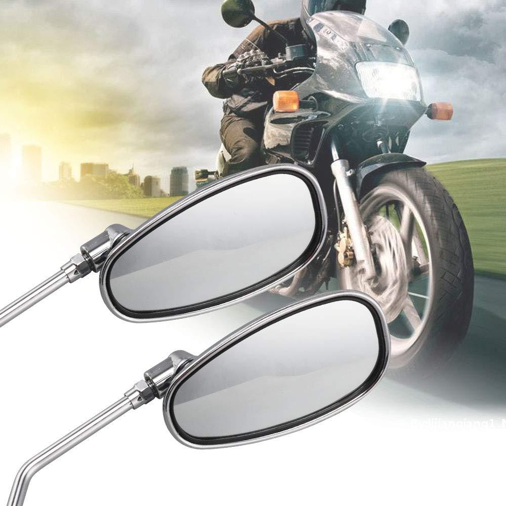 BALLSHOP 2x Motorradspiegel Motorrad Spiegel Seitenspiegel R/ückspiegel Lenkerendenspiegel Chrom M10 Rechtsgewinde Roller