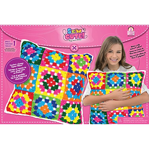 Colorbok Sew Cute Crochet Granny Squares Pillow by Colorbok