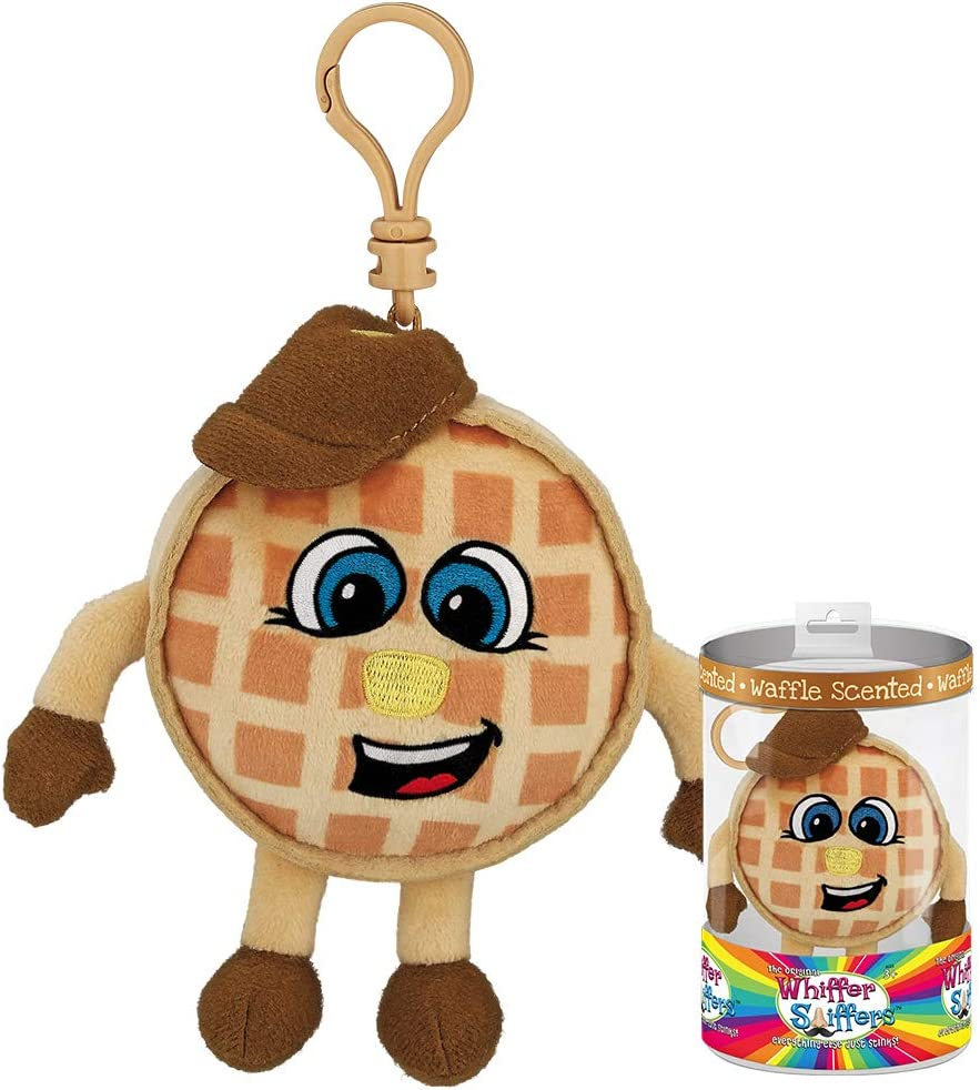 Whiffer Sniffers Waffle Aaron Waffle Scented Backpack Clip, 4.5""
