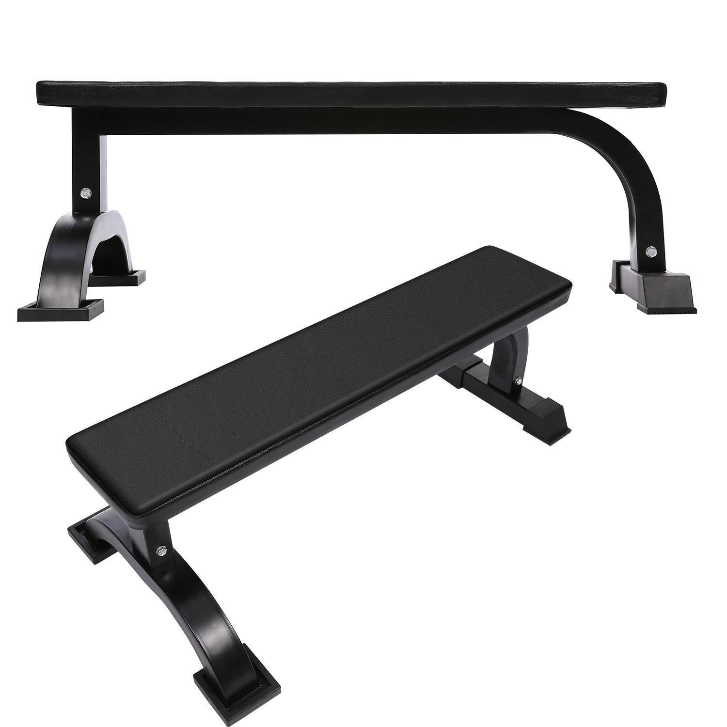Weight-lifting Bench Extra Strength Heavy Duty Equipment Padded Flat Weight Lifting Bench by Cosway