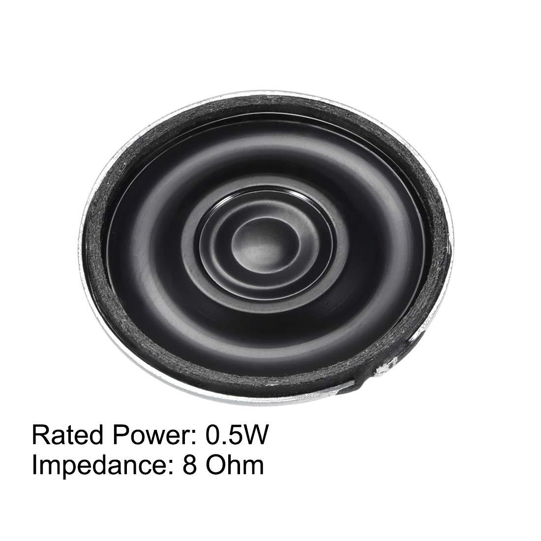 uxcell 0.5W 8 Ohm Audio Speaker Diameter 28mm Loudspeaker for Electronic Project 2pcs