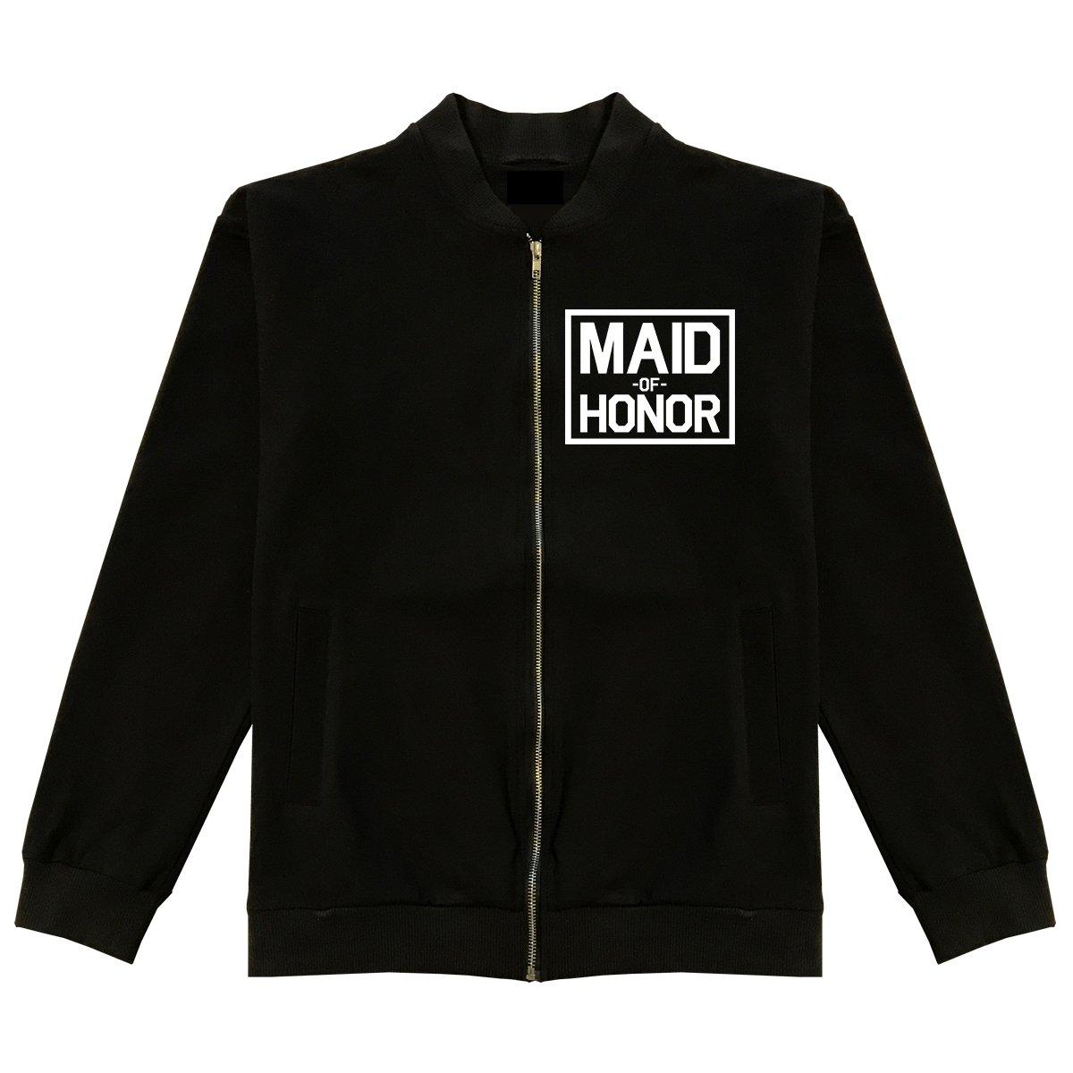 Maid Of Honor Wedding Classic Bomber Jacket Medium Black