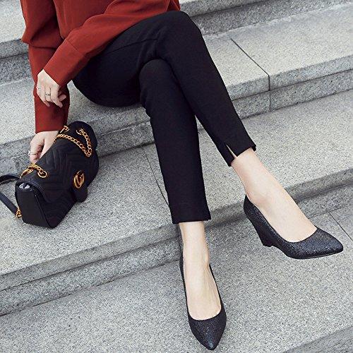silvery De De Shallow Mujer Zapatos Alto De Tacon De Cm Zapatos Punta Confortable Único Zapatos Tacon 8 Boca De Dama Zapatos Zapatos KPHY Pendiente De Primavera w7t04wqX