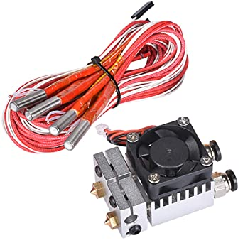 24V 40W dor/é 12 V, dor/é 1 All Metal V6 Dual Color Extrudeuse 2 In 2 Out pour imprimante 3D Filament 1,75 mm Multi-extrusion V6 Bowden Hotend Kit
