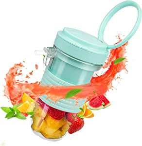 FUHUIM Portable Blender, Personal Size Blenders with 2400mAh Waterproof Magnetic USB Charging Plug, 6 Steel Blades, BPA Free, Direct Drinking Spout, 10oz/300ml Capacity, Fits for Family, Travel, Sport, Office and Party