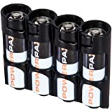 Storacell by Powerpax SlimLine AA Battery Caddy Black Holds 4 Batteries