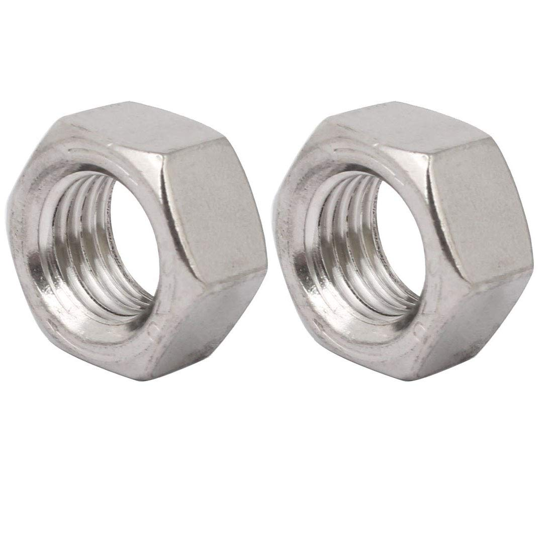 YXQ 1000Pcs M3 Hex Nuts 3mm Female Thread Metal Fastener Silver Tone