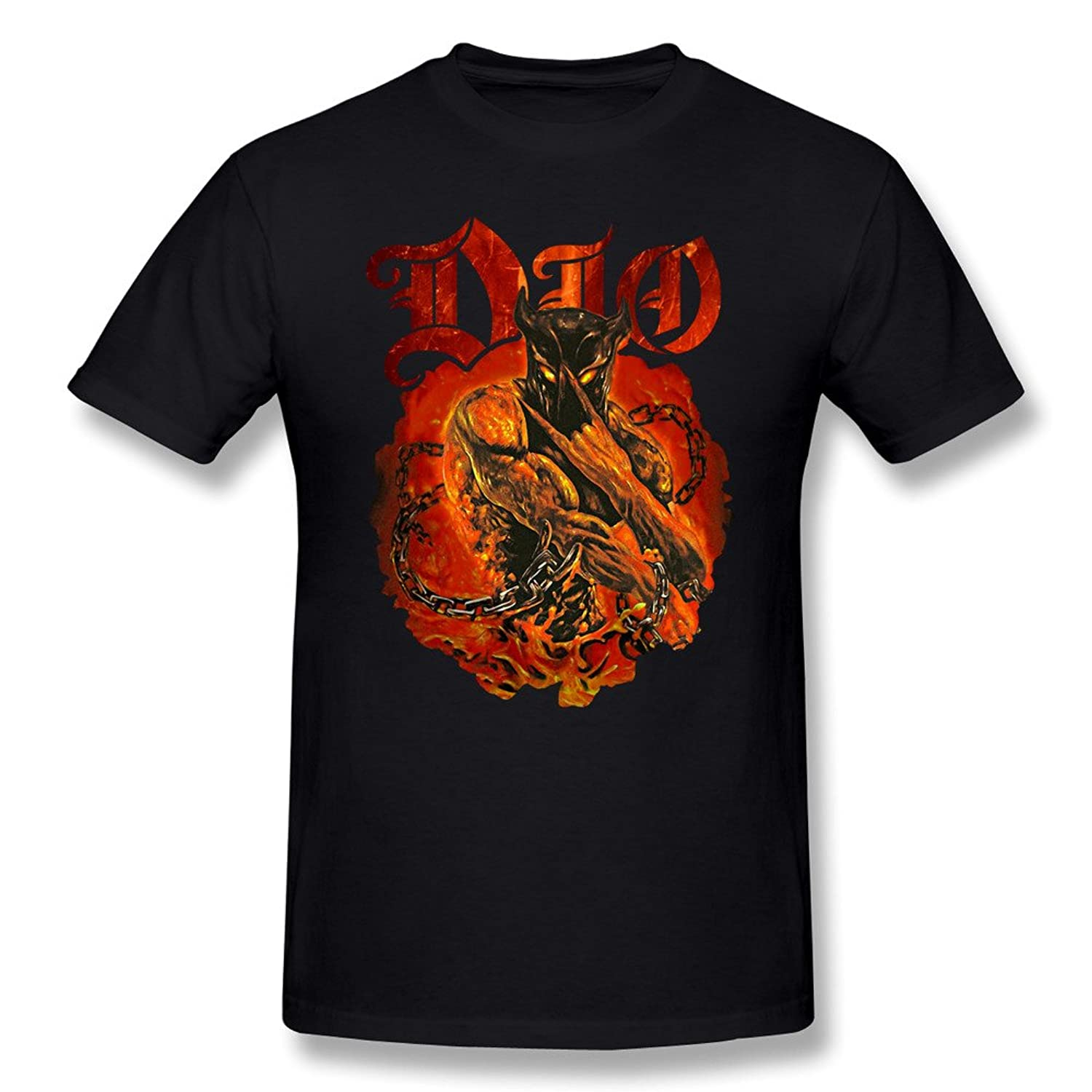 Jasmincc Men's Dio Holy Diver T Shirts Black