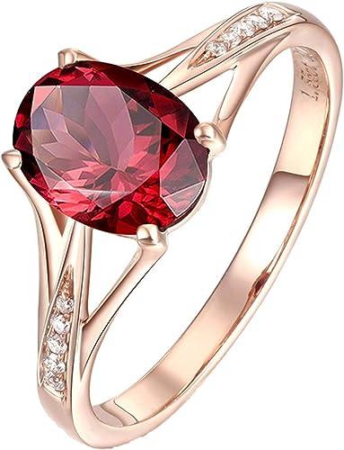 Details about  /1.82 EM Round 3 stone Natural Garnet Promise Bridal Wedding Ring 14k Rose Gold