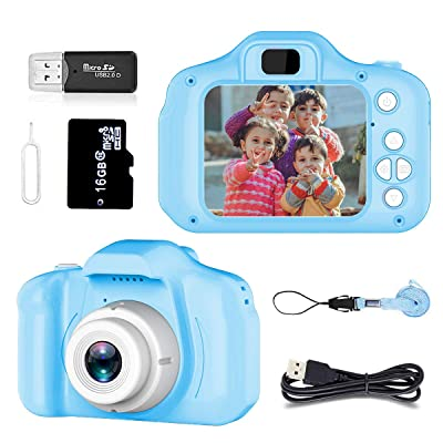 Pussan Toy for 4-8 Year Old Boys Kids Camera HD 1080P Digital Camera for Kids Video Recorder Small Cameras with Silicone Soft Cover Camcorder Christmas Birthday Gifts for Children Party Outdoor Play: Toys & Games