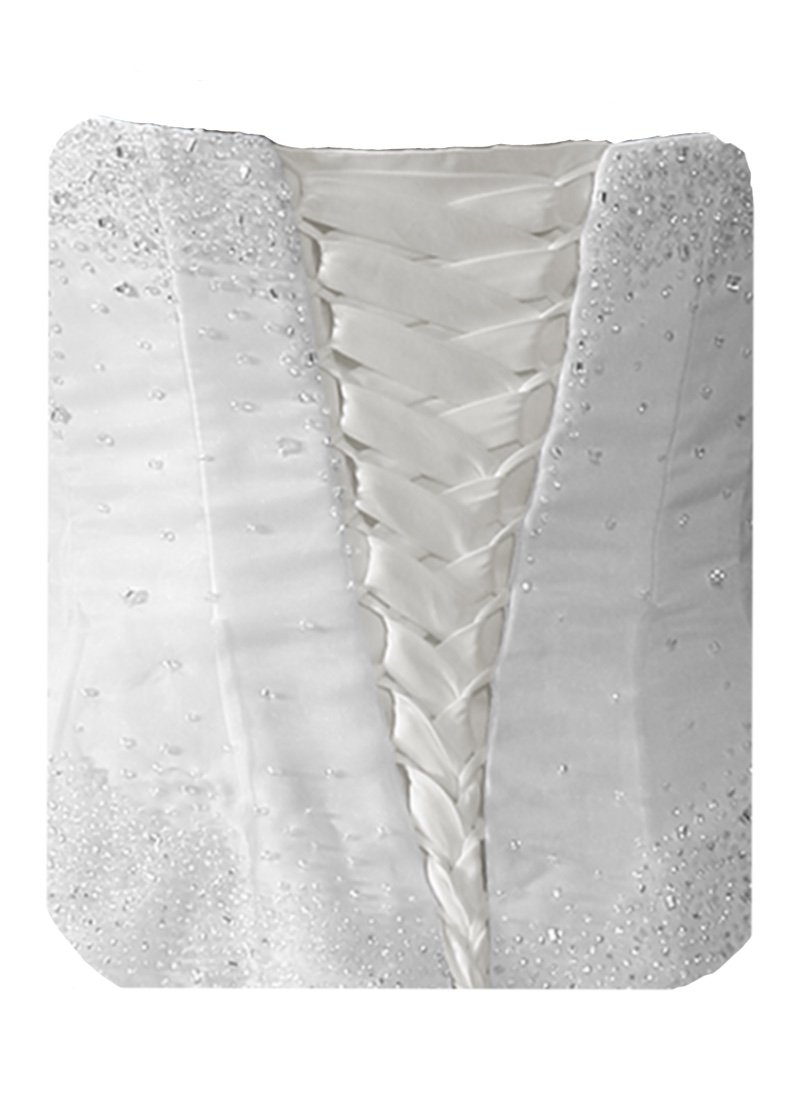 Wedding Dress Zipper Replacement Adjustable Fit Corset Back Kit Lace-Up White 12''