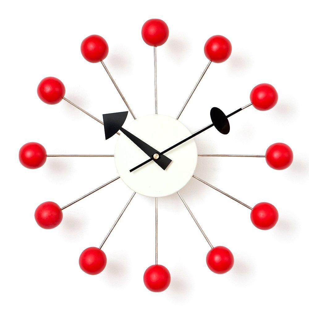 ジョージネルソン ボールクロック ネルソンクロック【CW09 レッド】時計 掛け時計 デザイナーズクロック 壁掛け時計 リプロダクト B008DHMAVY