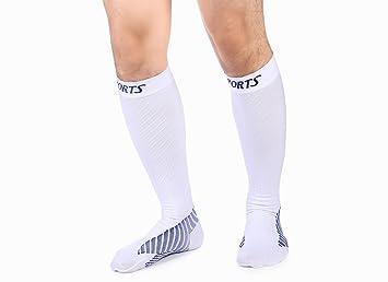 8024902e9 Hafiot Calcetines Compresión Mujeres, Hombres Running Graduada Aumentan  Rendimiento Circulación Recuperación Medias Deportes Negro - 1 Par WH-L:  Amazon.es: ...