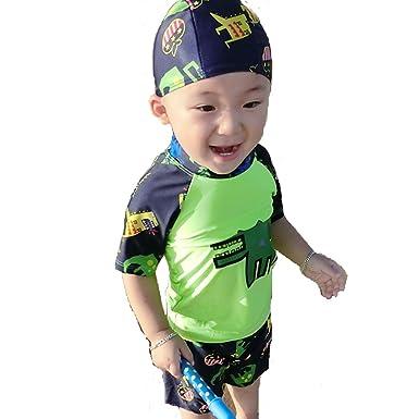 421d0b36481c1  abc水着 超可愛い子供服 水着 帽子付き 2点セット 子供 男児