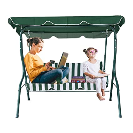 Amazon Com Karmas Product 2 3 Person Outdoor Patio Swing Canopy
