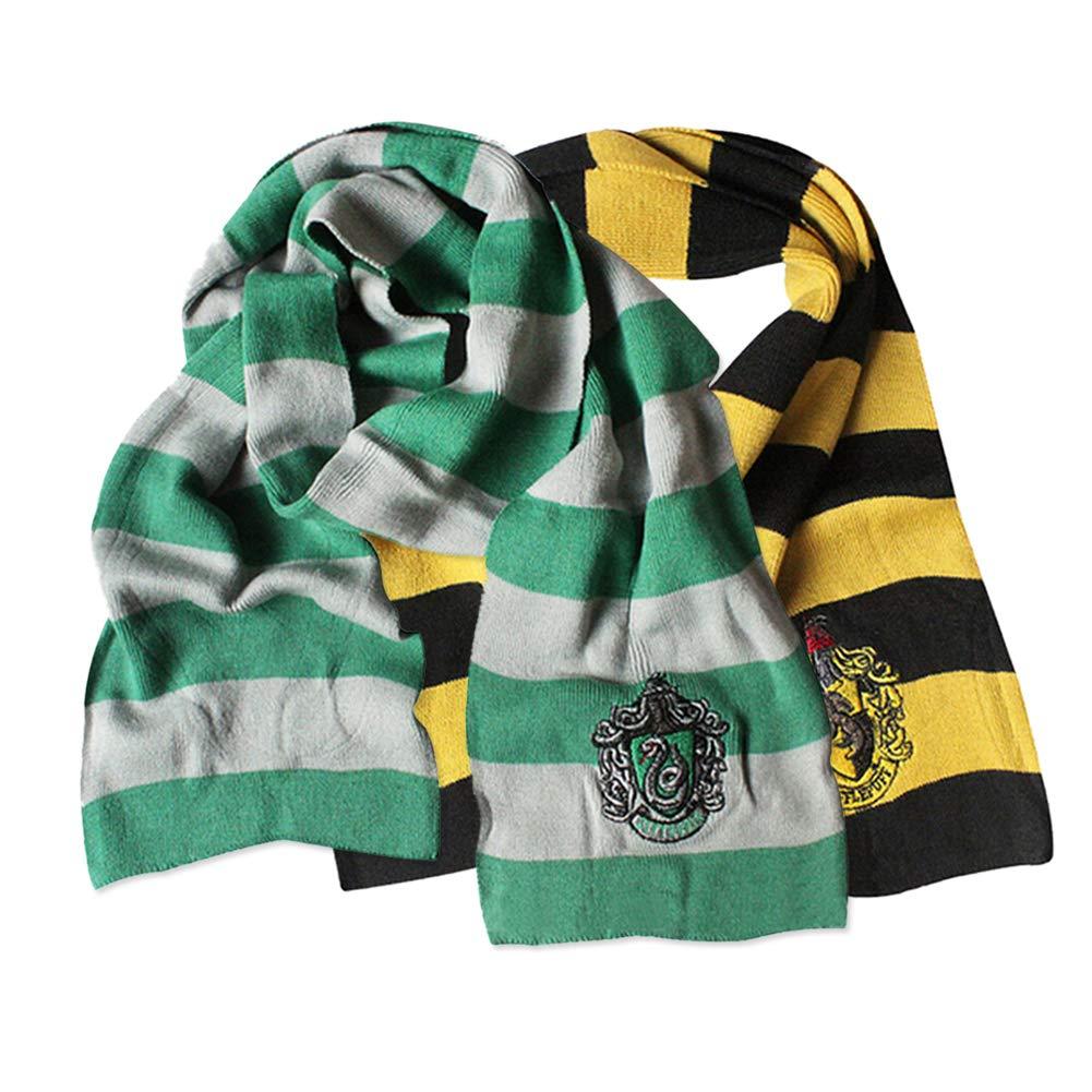 KEKEDA Potter Scarf Gryffindor Slytherin Hufflepuff Ravenclaw Scarves Cosplay Costumes Neckerchief for Boy Girl Scarf