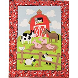 Izzy Farmtasia Nursery Blanket, On the Farm for Boys