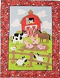 Izzy Farmtasia Nursery Blanket, On the Farm for Boys