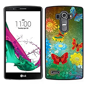 "For LG G4 , S-type mariposas abstractas del grunge"" - Arte & diseño plástico duro Fundas Cover Cubre Hard Case Cover"