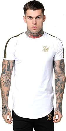 Sik Silk de los Hombres Gold Edit Runner Gym Camiseta, Blanco, XL: Amazon.es: Ropa y accesorios
