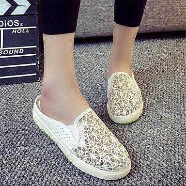 Pu Sneakers Plano De Resorte La RTRY US9 UK7 CN41 Confort Lienzo Informal Confort Mujer EU40 Blanco qSwBf
