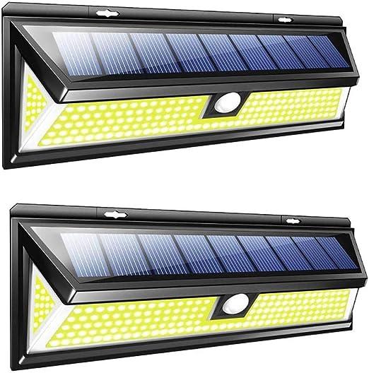 VOVOVO Solar LED Exterior, 3 Modos Foco Solar 180 LED Jardin ...