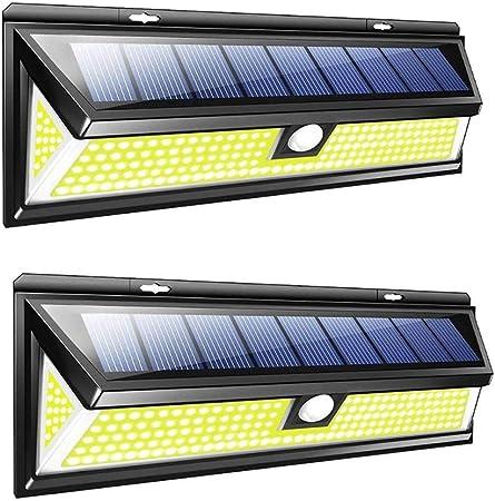 Lin-Yo Solar LED Exterior,3 Modos Foco Solar 180 LED Jardin Exterior con Sensor Movimiento IP65 Impermeable Luz Solares LED para Jardín,Terraza,Garaje,Camino,Patio,Escaleras: Amazon.es: Hogar