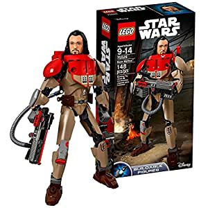 Lego Year 2017 Star Wars Rogue One Series Figure Set #75525 - BAZE MALBUS with Spring Loaded Shooter Heavy Cannon (Pieces: 148)