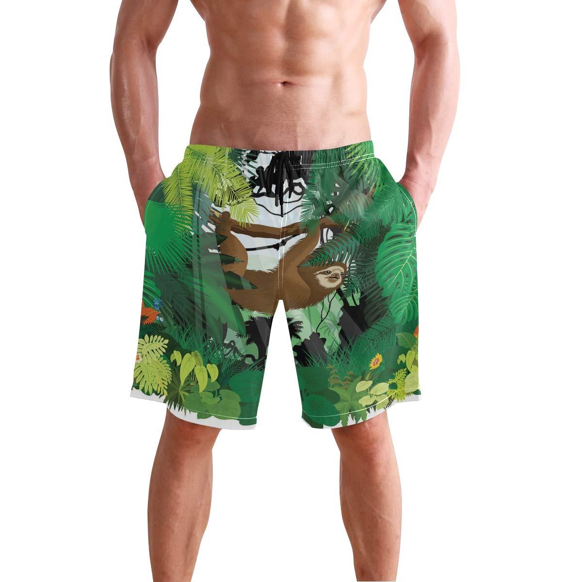 KVMV Vibrant Grid Tile Quick Dry Beach Shorts
