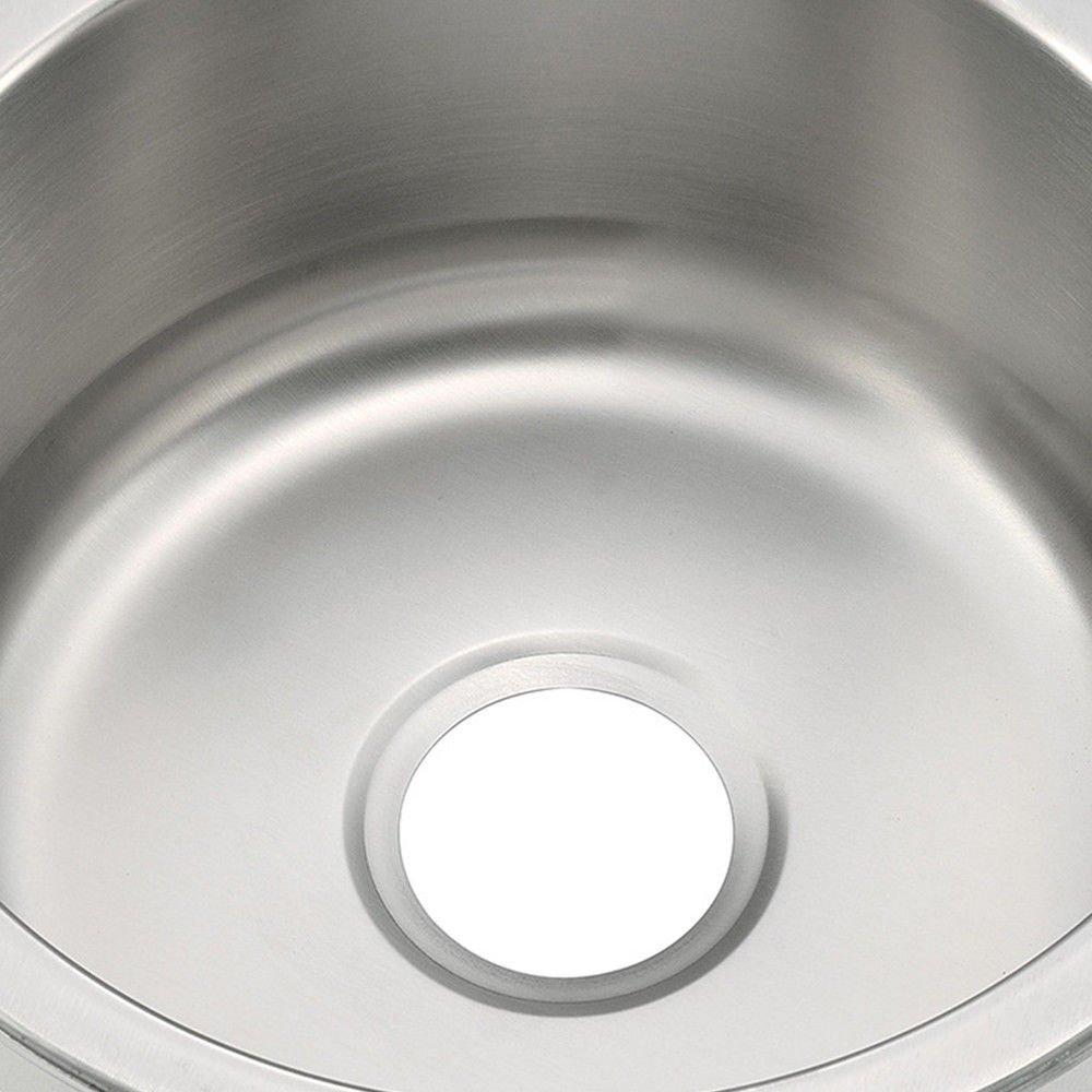 Fregadero de cocina redondo 41 x 41 x 41 cm de acero inoxidable