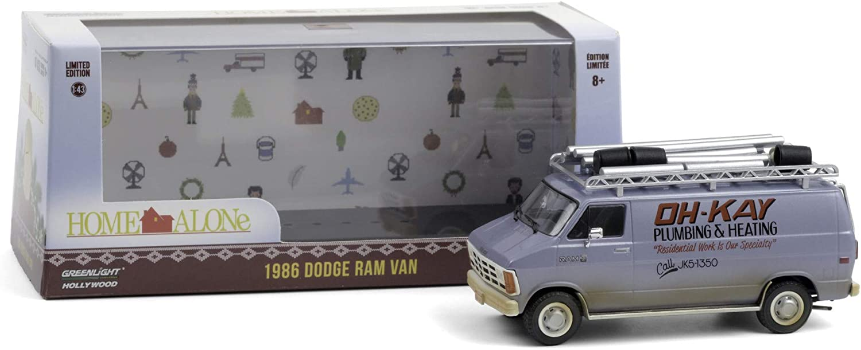 Greenlight 1:43 Home Alone (1990) - 1986 Dodge Ram Van Oh-Kay Plumbing & Heating 86560