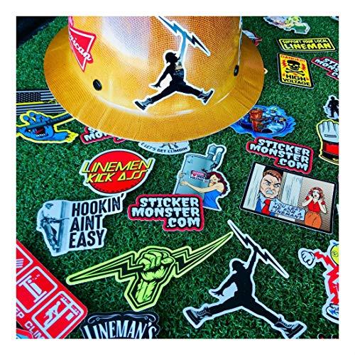 Lineman (64) Hard Hat Stickers Hardhat Sticker, Linemen, Electrician, Reddy IBEW by Unknown (Image #7)
