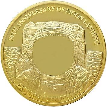Bonarty Monedas Conmemorativas Chapadas en Oro Coleccionable con Estuche de Capúsula de Pantalla Transparente - Dorado: Amazon.es: Juguetes y juegos