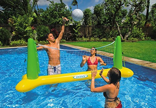 Intex Pool Volleyball net and ball with repair Patch Perfectly Made for Play On pool ()