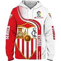 Jesus Avila Hoodies,Chaquetas,Camiseta,Pantalones-Cortos Cárdigan Delgado 3D Sevilla Fc Completo Impresión Sudaderas…