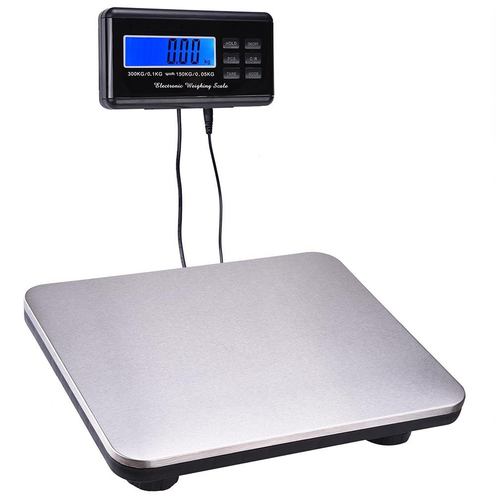 Yescom 660lbs LCD Digital Scale Postal Scale Platform 300kg Capacity Stainless Steel Platform Scale