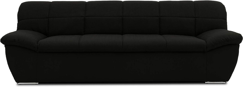 2-Sitzer Couch Garnitur 211 x 96 x 76 cm DOMO Collection Splash Sofa 2er Polster schwarz