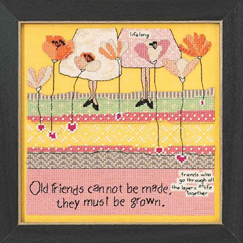 (Old Friends Beaded Counted Cross Stitch Kit Mill Hill Curly Girl Designs 2015 Everyday Series CG305101 by Curly Girl)
