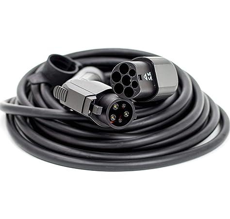 est/ándar de EE.UU. EV Cargador Tipo 1 a Tipo 2 Morec 16A 3.68KW EV Cable de Carga SAE J1772 8M