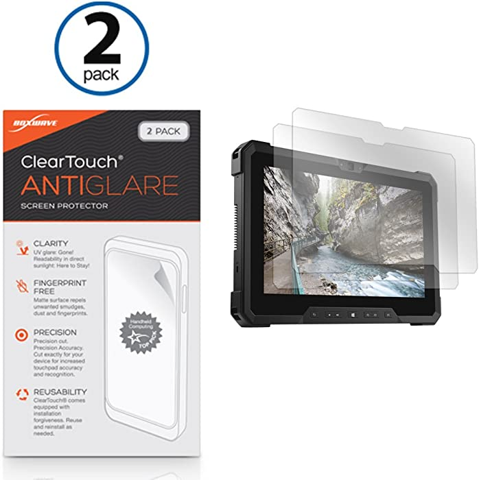 Dell Latitude 7212 Rugged Extreme Tablet Screen Protector, BoxWave¨ [ClearTouch Anti-Glare (2-Pack)] Anti-Fingerprint Matte Film Skin for Dell Latitude Rugged 12