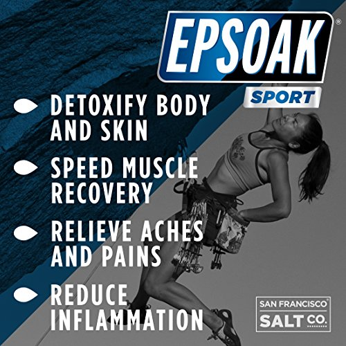 Epsoak SPORT Epsom Salt for Athletes - 5 lbs. UNSCENTED Magnesium Sulfate