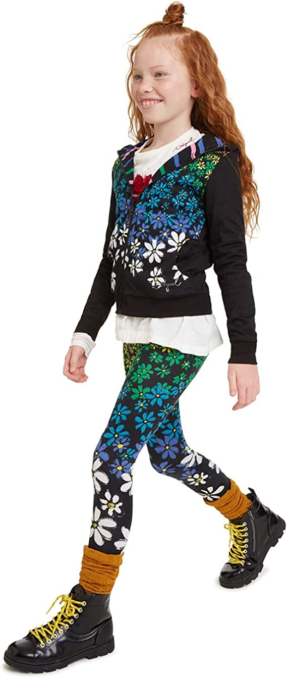 Negro 2000 M Bambina Nero Desigual Legging Margaritas Leggings