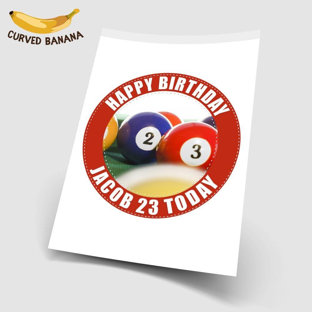 Bolas de billar personalizadas de 7.5 pulgadas de alta resolución para decoración de tartas: Amazon.es: Hogar