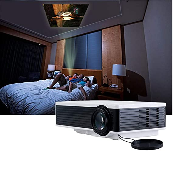 YFQH Projector Home Small Office HD 1080P Proyector inalámbrico 4K ...